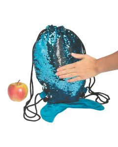 Reversible Sequins Mermaid Drawstring Bag