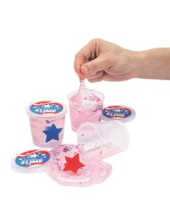 Ring-Filled Patriotic Confetti Slime