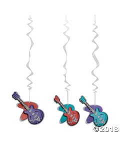 Rockin' 50's Guitar Hanging Swirls