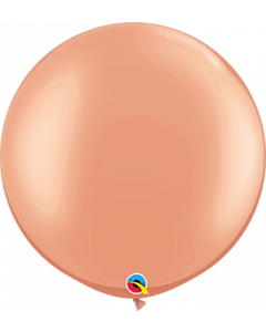 Rose Gold 91cm Plain Round Latex Balloon