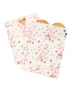 Rose Gold Bridal Shower Treat Bags