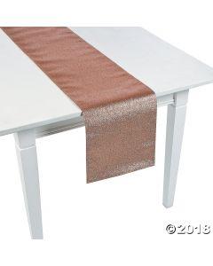 Rose Gold Glitter Table Runner
