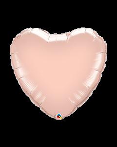 Rose Gold Heart Plain Foil Balloon