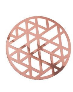 Rose Gold Laser-Cut Chargers