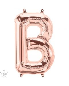 Rose Gold Letter B Air Filled 41cm Foil Balloon