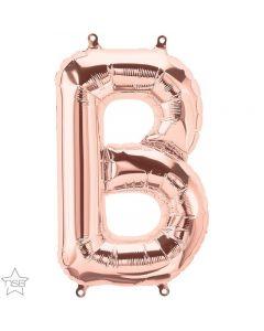 Rose Gold Letter B Foil Balloon 86CM