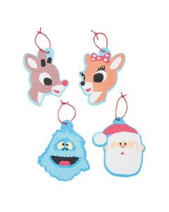 Rudolph the Red-Nosed Reindeer Sand Art Ornaments