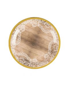 Rustic Paper Dinner Plates