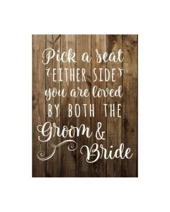 Rustic Wedding Seating Cermony Sign