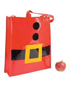 Santa Belt Laminated Tote Bags