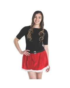 Santa Skirt with Fur Trim