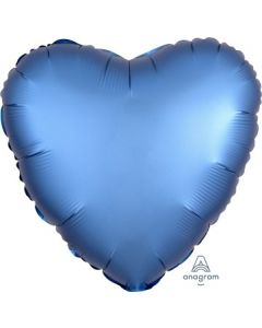Satin Luxe Azure Heart Foil Balloon