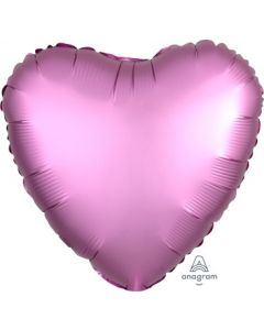 Satin Luxe Flamingo Heart Foil Balloon