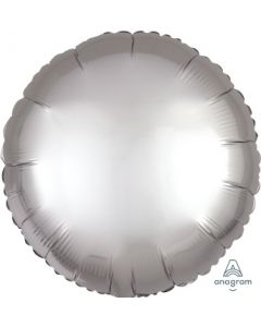 Satin Luxe Platinum Circle Foil Balloon