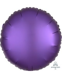 Satin Luxe Purple Royale Circle Foil Balloon