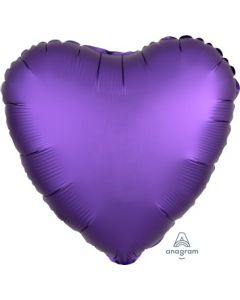 Satin Luxe Purple Royale Heart Foil Balloon
