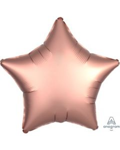 Satin Luxe Rose Copper Star Foil Balloon