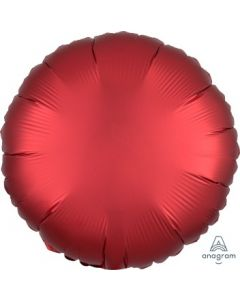 Satin Luxe Sangria Circle Foil Balloon