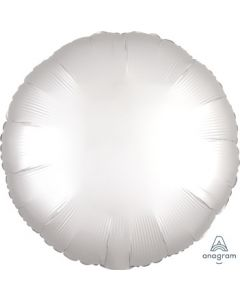 Satin Luxe White Satin Circle Foil Balloon