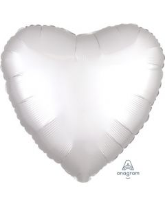 Satin Luxe White Satin Heart Foil Balloon