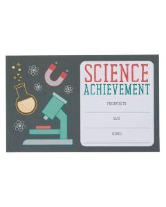 Science Achievement Award Certificates