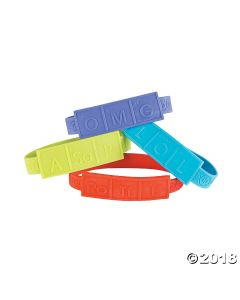 Science Party DNA Rubber Bracelets