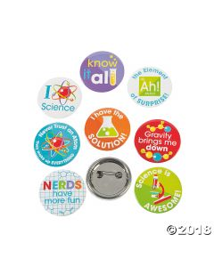 Science Party Mini Buttons