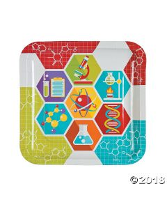 Science Party Paper Lunch Plates