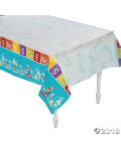 Science Party Plastic Tablecloth