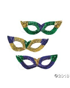 Sequin Mardi Gras Sequin Masks