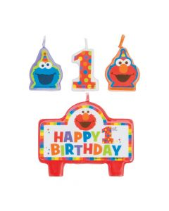 Sesame Street Elmo Turns One Candle Set
