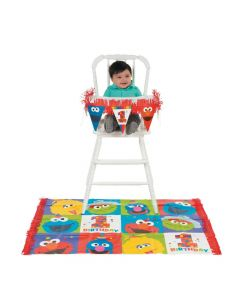 Sesame Street Elmo Turns One High Chair Kit