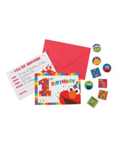 Sesame Street Elmo Turns One Invites