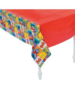 Sesame Street Elmo Turns One Plastic Tablecloth
