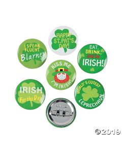 Shamrock Mini Buttons