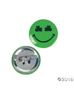 Shamrock Smile Face Mini Buttons