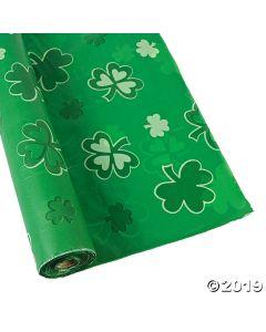 Shamrocks Plastic Tablecloth Roll