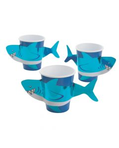 Shark Party Paper Cup with Sleeves