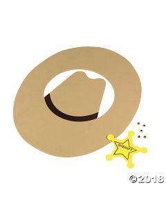 Sheriff Cowboy Hat Craft Kit