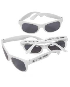 She's Getting Married White Nomad Sunglasses