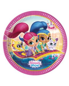Shimmer and Shine Glitter Friends Paper Plate