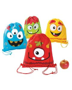 Silly Monster Drawstring Backpacks