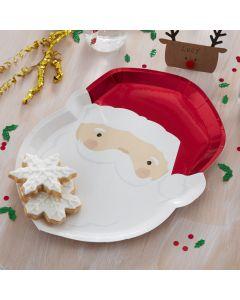 Silly Santa - Paper Plates - Santa Shaped
