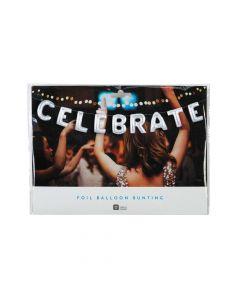 Silver Celebrate Mylar Balloon Banner