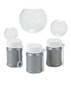 Silver Mini Bubble Bottles