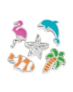 Silvertone Beach Floating Charms