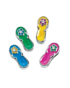 Small Enamel Flip Flop Slide Charms