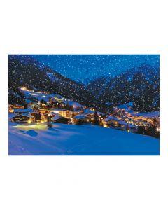 Snow Village Backdrop Banner
