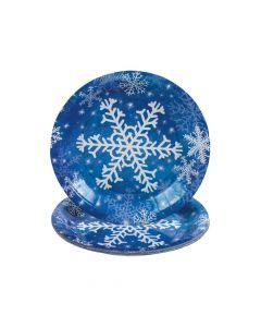 Snowflake Paper Dessert Plates