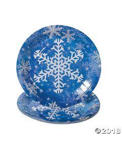 Snowflake Paper Dinner Plates